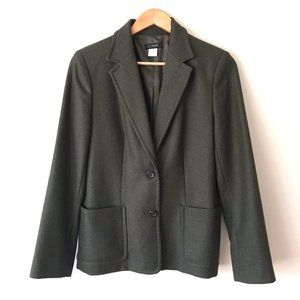 J. Crew Blazer/ Jacket Wool Size 6 Green